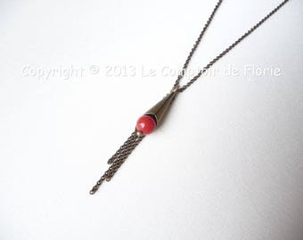 DESTASH Choker with cone and Red coral