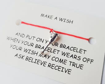 Buy One, Get One Free Celebration Glass Wish Charm Bracelet - Standard Card