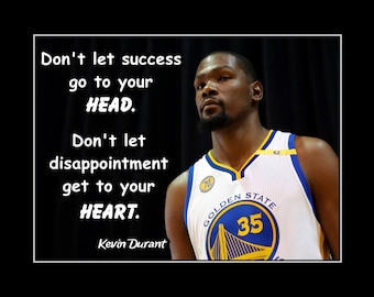 Kevin Durant Quote Magnificent Elena Delle Donne Girls Basketball Motivation Poster Daughter
