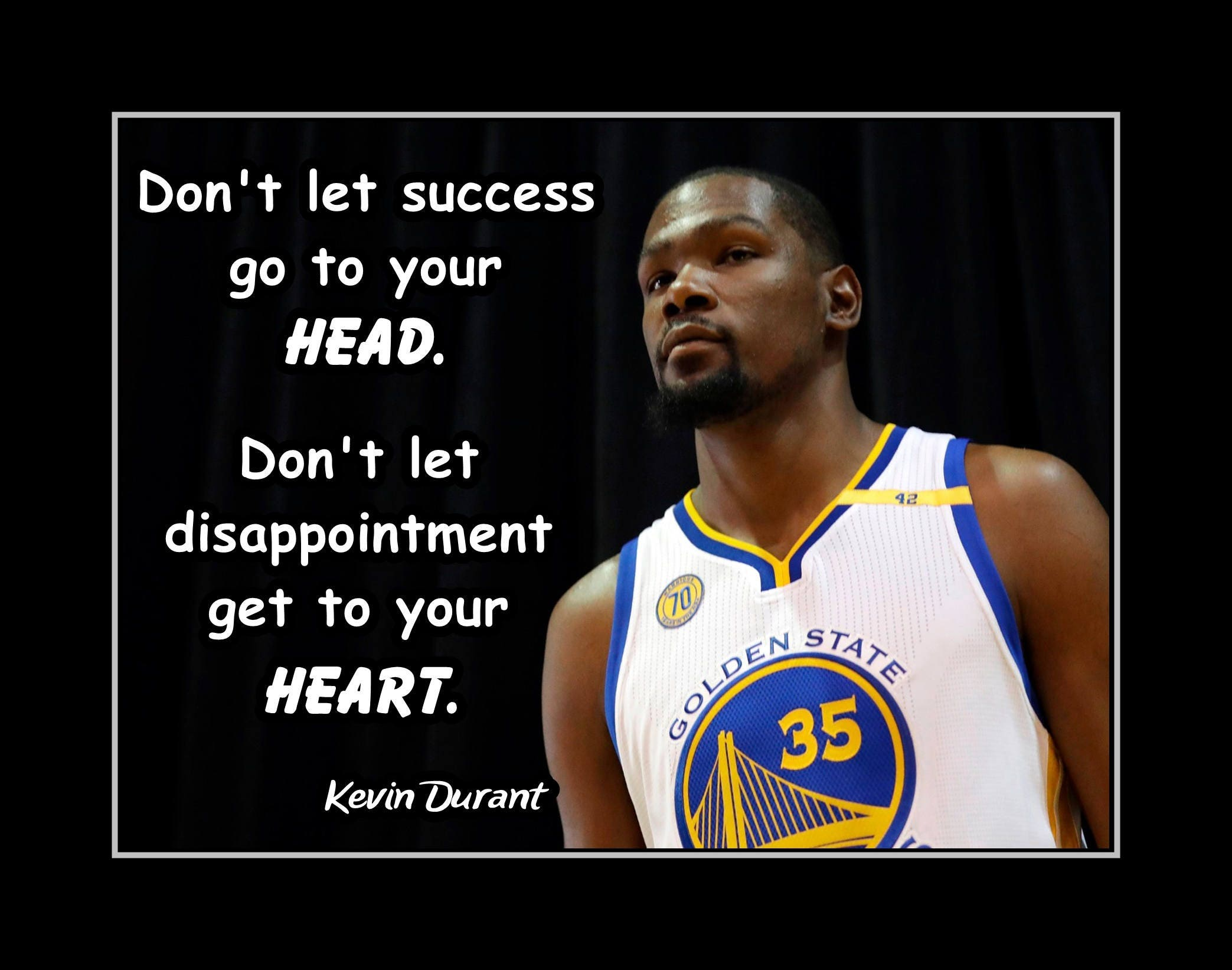 Kevint Durant Basketball Motivation Poster Son Confidence