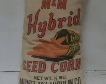 Seed corn bag pillow
