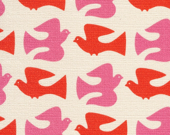 On the Fly in Orange- Holding Pattern by Jessica Jones - Cloud 9 Bark Cloth Cloud9