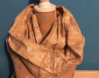 Game of Thrones Map of Westeros Infinity Scarf (made with licensed fabric)