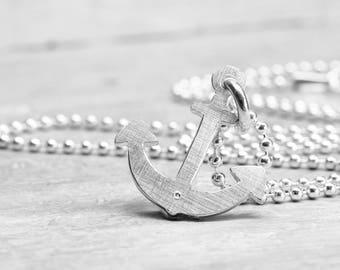 925 silver chain SHIP AHOY! maritime silver pendant with silver chain, boat, nautical, ship silver jewelry