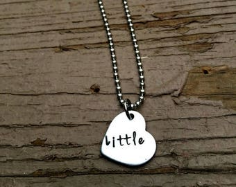 big little sorority, Little Sister, New Sibling, Two Set, Rush Gifts, Greek,Sister Jewelry, Hand Stamped Necklaces, Sorority Sisters, Reveal