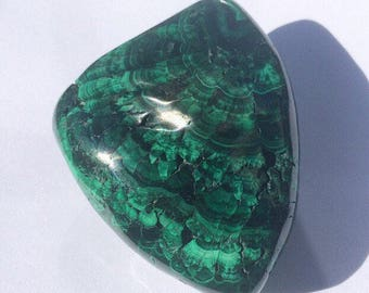 Malachite Botryoidal Polished Banded Mineral Specimen DRC Rocks and Minerals Green