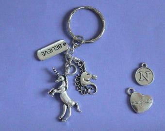 Unicorn Keyring or Bag Charm,Unicorn Charm,Magic Unicorn Keyring,Gift for Unicorn Lover,Gift for Unicorn Fan,Stocking Filler,Secret Santa