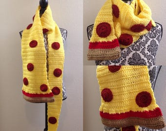 Crocheted Pizza Slice Scarf
