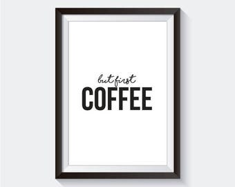 But First Coffee Art Wall (Digital)