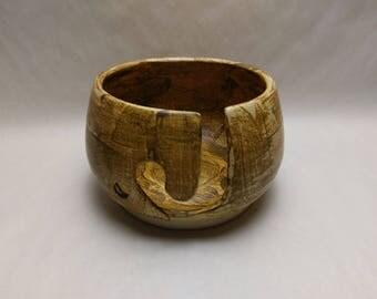 YARN BOWL - Salt Buff J Cut - Hand Made Ceramic #810
