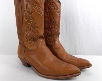 Vintage Medium Brown Cowgirl Boots 9 1/2