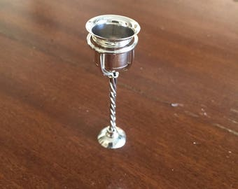 Miniature Silver Wine cooler with Stand