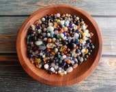 3 ounces of Culled Momma Bean Stalk Gemstone Beads with Metal Star Blanks, Gemstone Star, Gemstone Snowflake, Seconds Beads, Kid's Activity