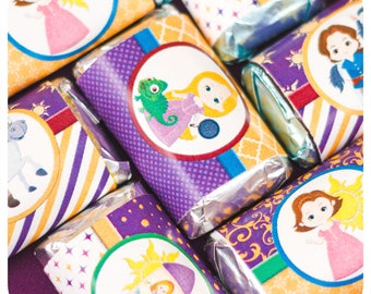 Tangled party; Tangled Birthday Party; Tangled Miniature Candy Bar Wrappers; Rapunzel Party; Tangled; Party decor; Tangled; Tangled Birthday