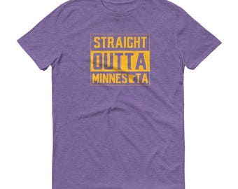Straight Outta Minnesota Short-Sleeve T-Shirt