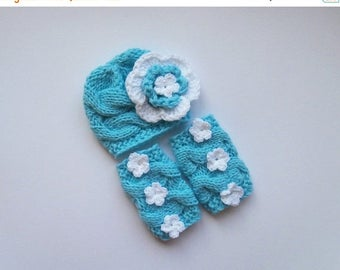 ON SALE 20% DISCOUNT Baby Girl Hospital Outfit -Baby Girl Knit Hat and Leg Warmers-Newborn Baby Girl Outfit -Photography Photo Prop Set
