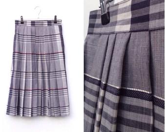 Box Pleat Tartan Skirt - Small