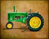 Antique John Deere 60 Tractor from the 1950s E109