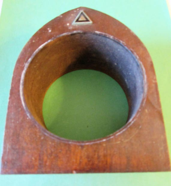 """Nice 5 3/4"""" Tall Vintage Wood Mantle Clock Case for your Clock Projects & Etc..."""
