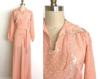 vintage 1930s lingerie | 30s silk and lace nightgown