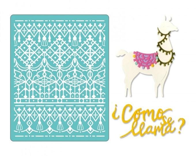 Will ship March 20th - Sizzix Thinlits Die Set 7PK w/Textured Impressions - Cómo Se Llama 662751