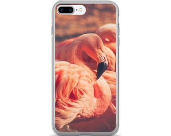 iPhone 7/7 Plus Case - Red Silo Original Art - Pink Flamingos Phone Case