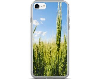 iPhone 7/7 Plus Case - Red Silo Original Art - Green Wheat