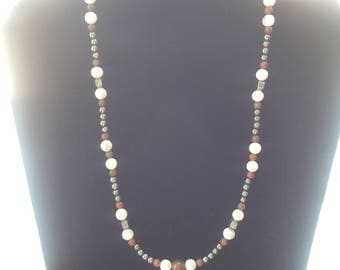 "Beaded necklace.  20"" in length."