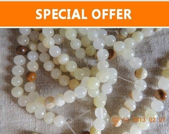 Christmas Sale Bead supply Gemstone Italian Onyx 8 mm & 6 mm beads for making Malas, necklaces, bracelets,  earrings, etc.
