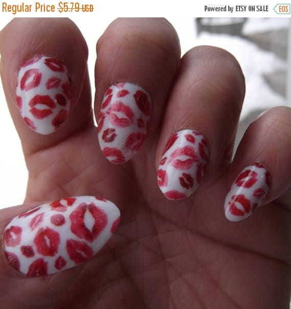 On sale lipstick kiss nail art decals klr transparent full nail on sale lipstick kiss nail art decals klr transparent full nail wrap kisses decoration waterslide decal stickers red lips on clear use ov from prinsesfo Images