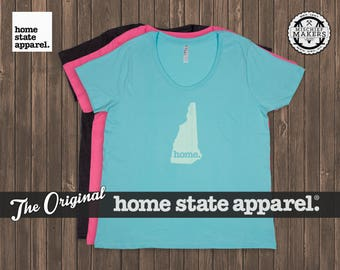 New Hampshire Home. T-shirt- Women's Curvy Fit
