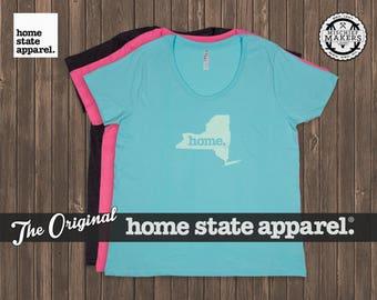 New York Home. T-shirt- Women's Curvy Fit