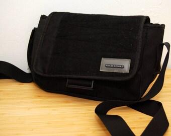 POLO SPORT BAG black 90s vintage ralph lauren rl 92 1990s messenger cross body satchel hand small strap tote retro men women minimal dope