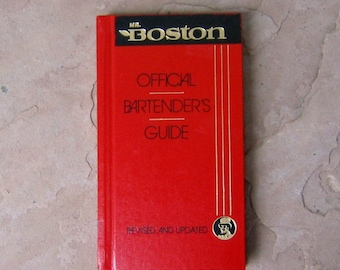 Mr Boston Official Bartender's Guide, Mr Boston Bartenders Guide Book 63rd Edition Revised and Updated, 1988 Bar Book