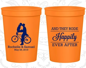 Orange Stadium Cups, Orange Cups, Orange Party Cups, Orange Wedding Cups (201)