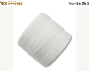 20% OFF White ,S-Lon #18 Bead Cord, Tex 210, Twisted Nylon Cord 77 Yds. Kumihimo supplies
