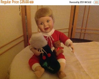 "50% off Summer Sale The Danbury Mint Porcelain Christmas Doll ""Danny"""