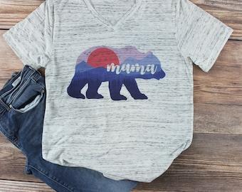 Mama Bear Shirt/ Momma Bear Shirt/ Mom Life is the Best Life Shirt Mom Life Womens Graphic Tee/ Cute Graphic Tee/ Shirts for Mom/ New  Mom