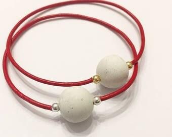 The Minimalrch - leather bangle bracelet