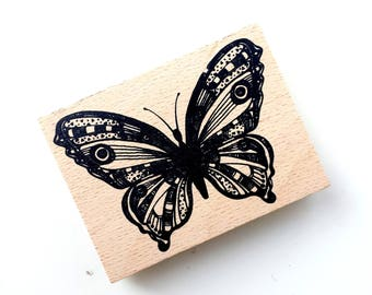 Wooden Butterfly - unity stamp