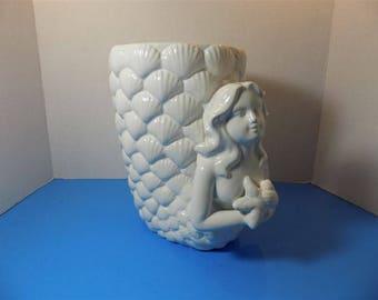 NEW RARE Ceramic Mermaid Lady Fish Ocean Art Sculpture Figurine Art Deco Style Home Decor Gifts