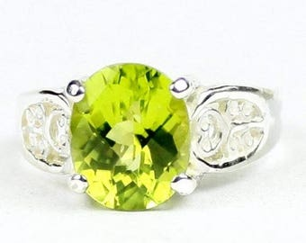 On Sale, 20% Off, Peridot, 925 Sterling Silver Ladies Ring, SR369