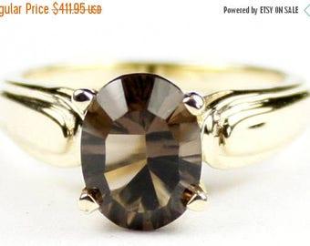 On Sale, 30% Off, Smoky Quartz, 14Ky Gold Ring, R058