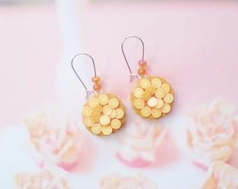 earrings orange tarts polymer clay