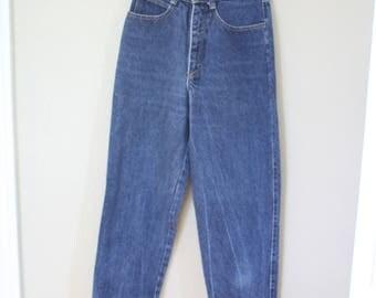 vintage 1980's high rise  bass mom  jeans denim 24