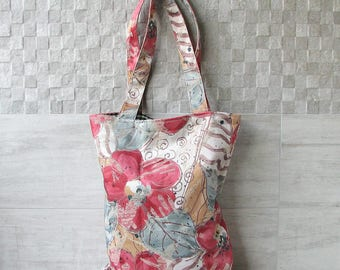 Hobo tote bag, Fabric Shoulder handbags, Women Canvas Sack Purse in Boho Style, Gift for Wife Vintage fabric