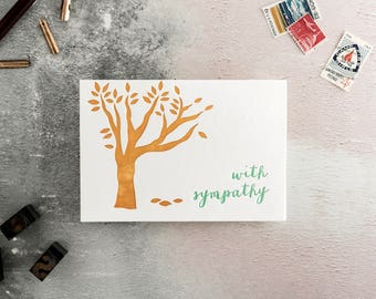 With Sympathy Letterpress Greetings Card