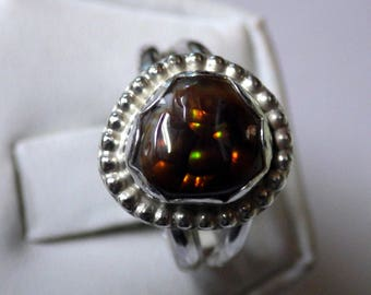 LADIES FIRE AGATE Ring