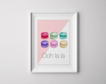 a4 Macaroons Print