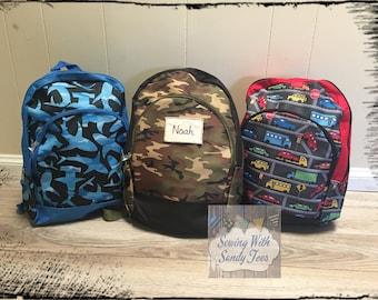 Kids backpack, Personalized Childs Back Pack, Boys Backpack, Toddler Backpack, backpack,Personalized Monogrammed BackPack,Shark backpack